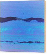 Sea At Its Bluest Wood Print