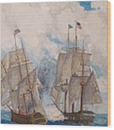 Sea Battle-war Of 1812 Wood Print