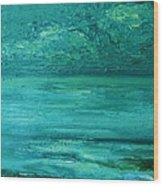 Sea Blue Wood Print
