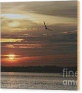 Sea Bright Sunset Wood Print
