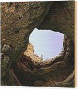 Sea Cave Escape Wood Print