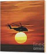 Sea Dragon Sunset Wood Print