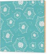 Sea Flower Wood Print