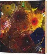 Sea Flowers And Mermaid Gardens Wood Print