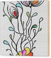 Sea Flowers Wood Print