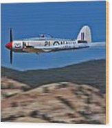 Sea Fury Fly-by Wood Print