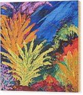 Sea Garden Wood Print
