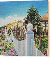 Sea Garden Walk Wood Print