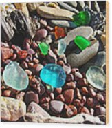 Sea Glass Art Prints Beach Seaglass Wood Print