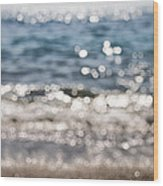 Sea Glitter Wood Print
