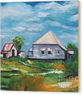 Sea Hill Houses - Sold Wood Print