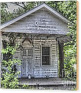 Sea Island Shack Wood Print