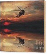 Sea King Sunset  Wood Print