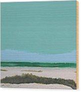 Sea Oat Dune 3 Wood Print