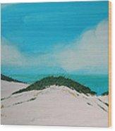 Sea Oat Dune 4 Wood Print