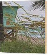 Sea Oats And The Tower Wood Print