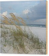 Sea Oats  Blowing In The Wind Wood Print