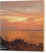 Sea Oats Sunset  Wood Print