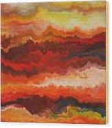 Sea Of Fire  Wood Print by Andrada Anghel