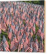 Sea Of Flags Wood Print