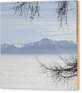 Sea Of Fog And A Tree Wood Print