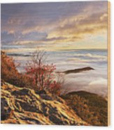 Sea Of Fog Wood Print