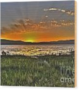 Sea Of Galilee Sunset Wood Print
