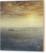 Sea Of Music Wood Print by Akos Kozari