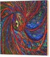 Sea Of Peacock Wood Print