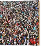 Sea Of People Wood Print by Glenn McCarthy Art and Photography