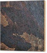 Sea Of Rust Wood Print by Fran Riley