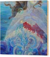 Sea Of The Soul Figure Detail Wood Print
