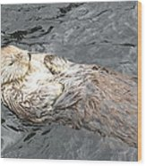 Sea Otter Wood Print