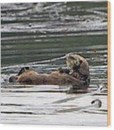 Sea Otter Profile Wood Print