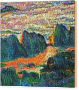 Sea Point Rocks Wood Print