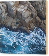 Sea Rocks Wood Print by Frank Tschakert