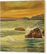 Sea Scape 1 Wood Print
