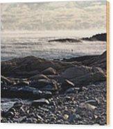 Sea-smoke At Schoodic Wood Print