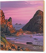 Sea Stacks Clearing Storm Harris State Beach Oregon Wood Print