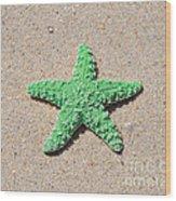 Sea Star - Green Wood Print by Al Powell Photography USA