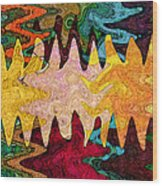 Sea Star Parade Wood Print