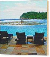 Sea Star Villa Wood Print