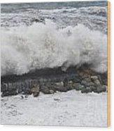 Sea Storm  Wood Print