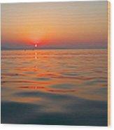 Sea Sunset Wood Print