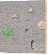 Sea Swag - Green Wood Print