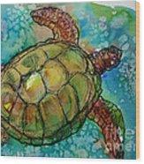 Sea Turtle Endangered Beauty Wood Print by M C Sturman