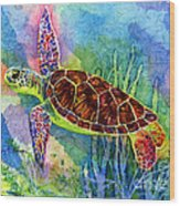Sea Turtle Wood Print