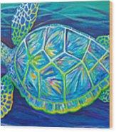 Sea Turtle I Wood Print