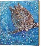 Sea Turtle Mr. Longevity Wood Print