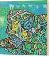 Sea Turtle Sam Wood Print